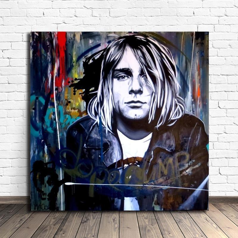 Kurt Cobain Street Art - DrunkArtist