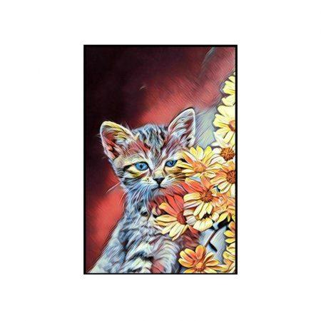 Cat Oil Painting - DrunkArtist