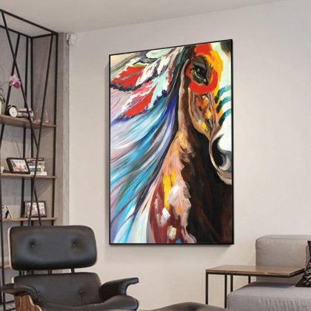 Hand Painted Abstract Horse - DrunkArtist