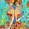 Handpainted Beautiful Twin Girls - DrunkArtist