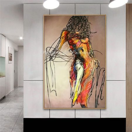 Hand Painted Dancing Figure - DrunkArtist