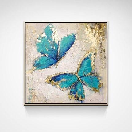 Hand Painted Blue Butterfly - DrunkArtist