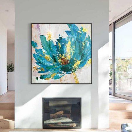 Hand Painted Blue Flower - DrunkArtist