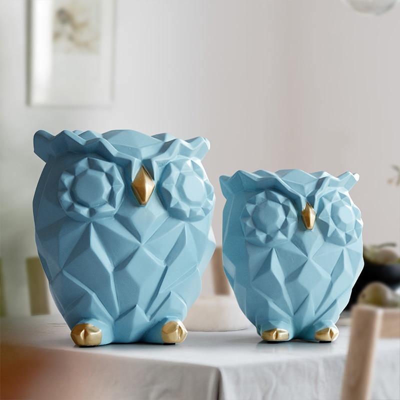 Cute Owl Statues - DrunkArtist
