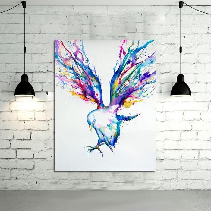 Handpainted Flying Color Bird - DrunkArtist