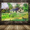 Houses at Auvers Hand Painted - DrunkArtist