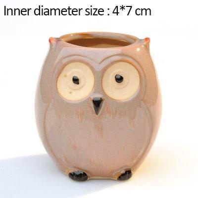 Cute Owl Ceramic Flowerpots - DrunkArtist