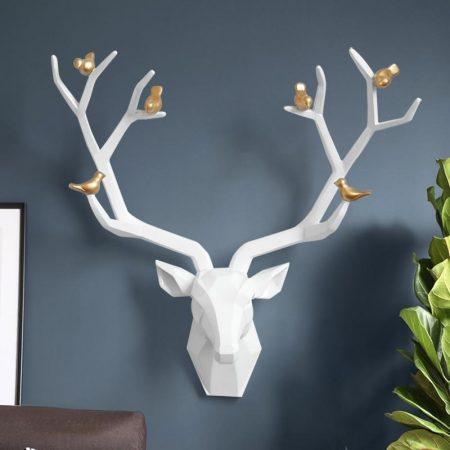 Resin Big Deer Head Wall Satue - DrunkArtist