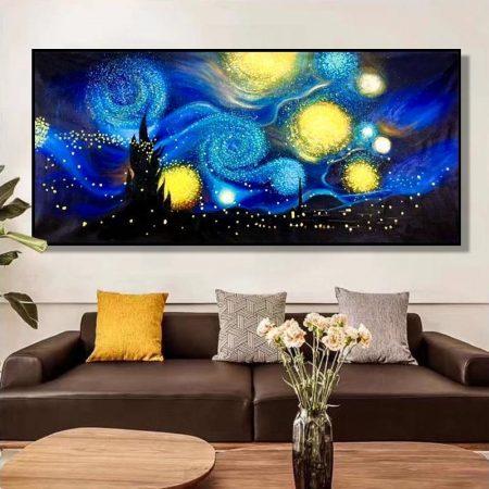 Hand Painted Starry Sky - DrunkArtist