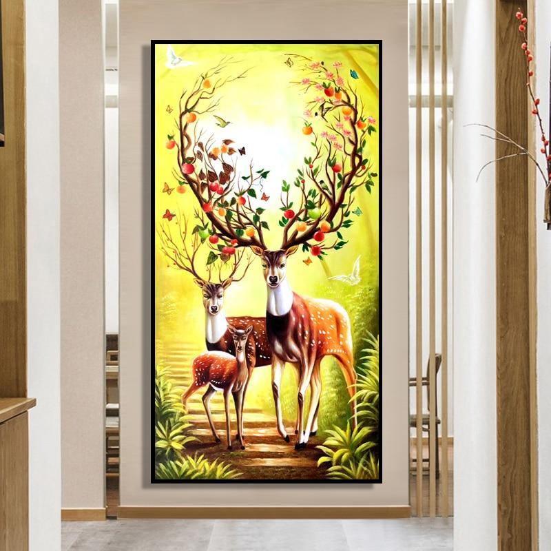 Hand Painted Milu Deer - DrunkArtist
