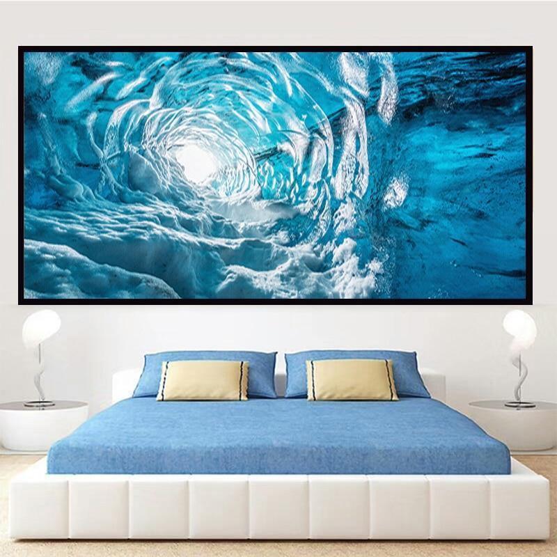 Hand Painted Water Wave Art - DrunkArtist