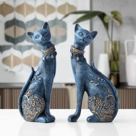 Cat Resin Statue - DrunkArtist