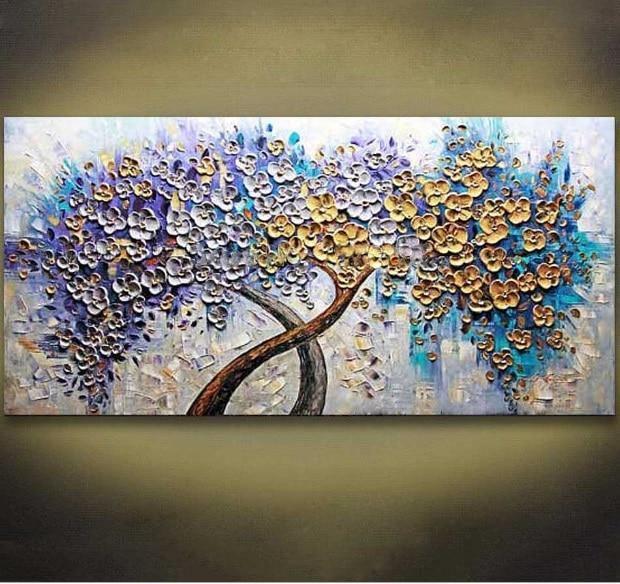 Handpainted Golden Tree Palette Knife - DrunkArtist