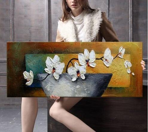Moth Orchid Oil Painting - DrunkArtist