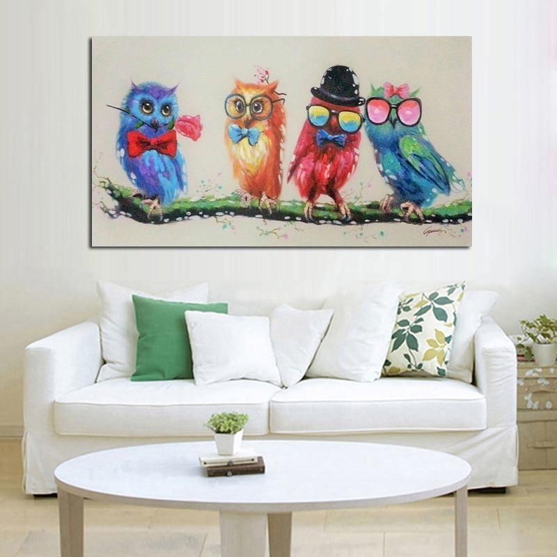 Handpainted Night Owl Party - DrunkArtist