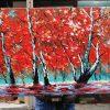 Handpainted Red Forest - DrunkArtist