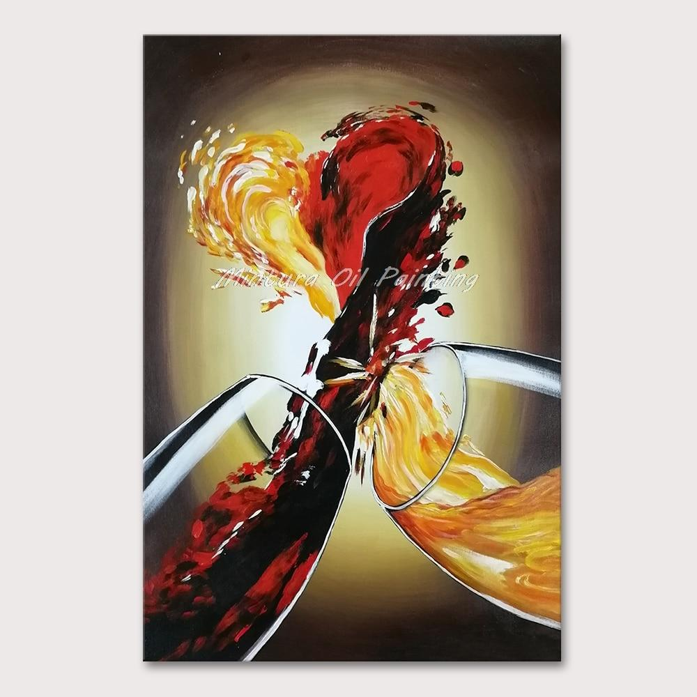 HandPainted Red Wine and Champagne - DrunkArtist