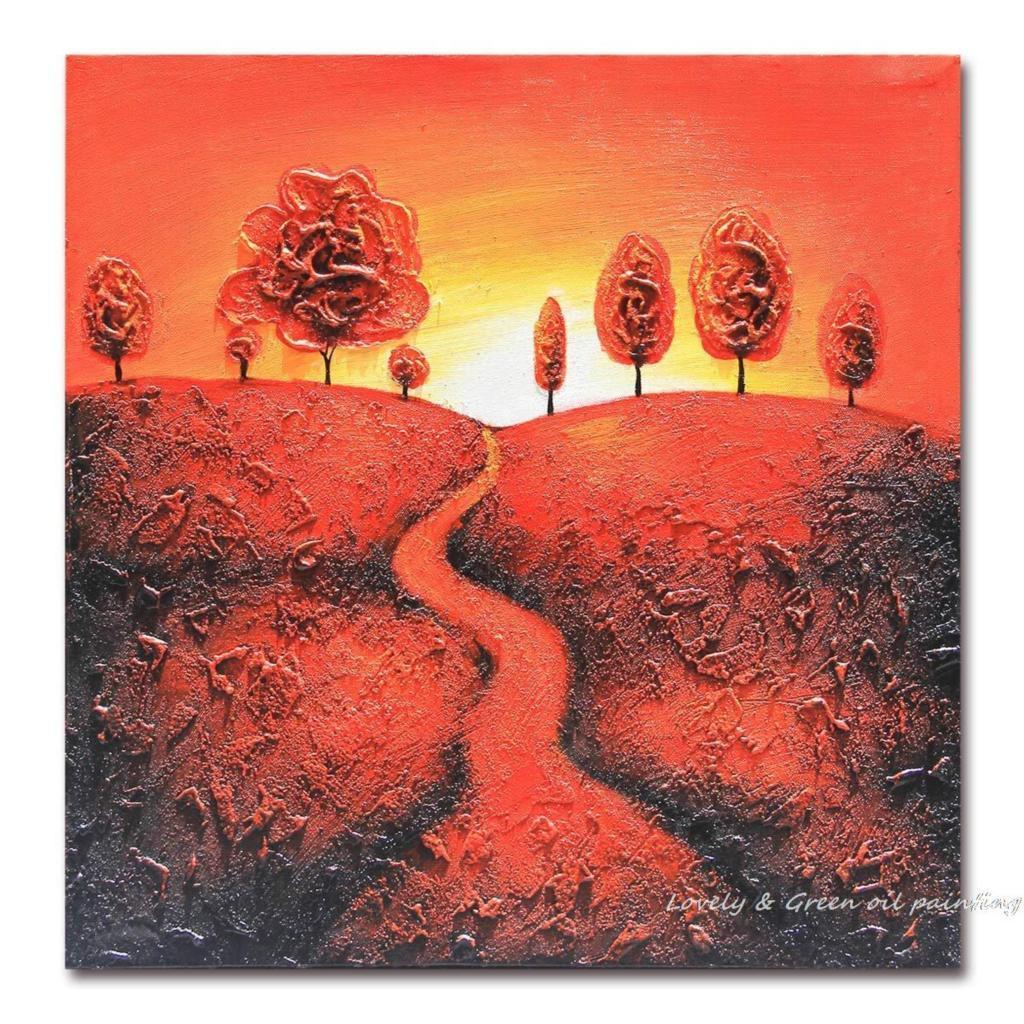 Hand Painted Uphill Sunset - DrunkArtist