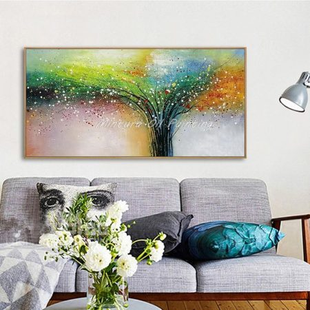 Hand Painted Scatter Colors Tree - DrunkArtist