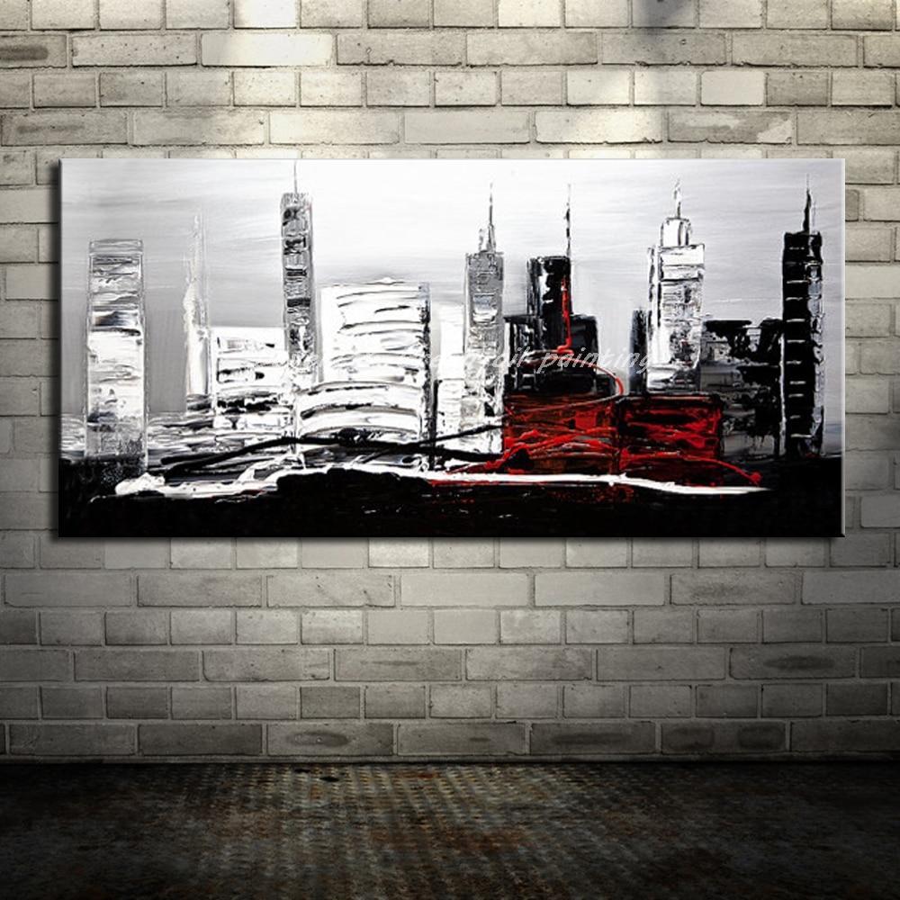HandPainted Abstract City Landscape - DrunkArtist