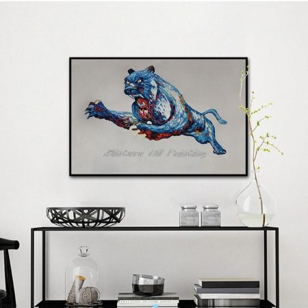 Hand Painted Fierce Cheetah - DrunkArtist