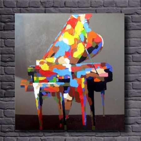 Hand Painted Colorful Piano - DrunkArtist