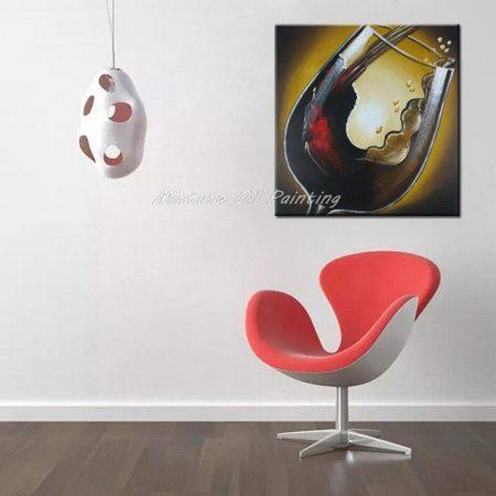 Hand Painted Chilled Red Wine Canvas Art - DrunkArtist