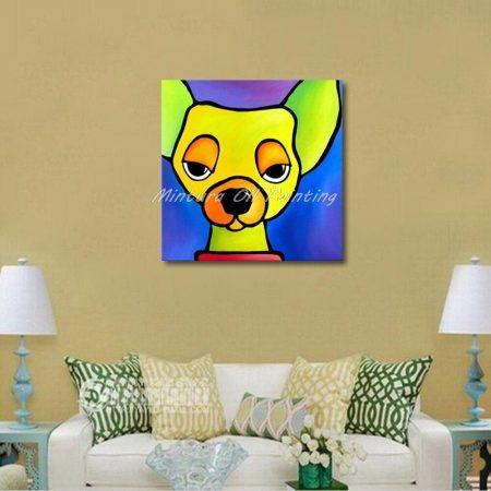 Hand Painted Abstract Dog Head Canvas Art - DrunkArtist