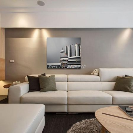 Hand Painted Gray And White Sofa - DrunkArtist