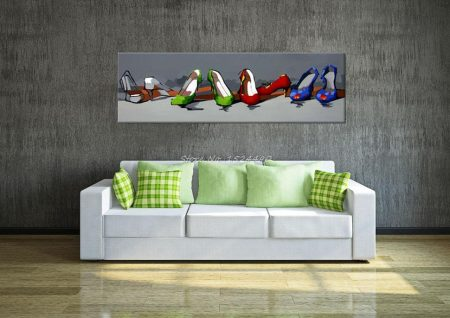 Hand Painted Beautiful Shoes - DrunkArtist