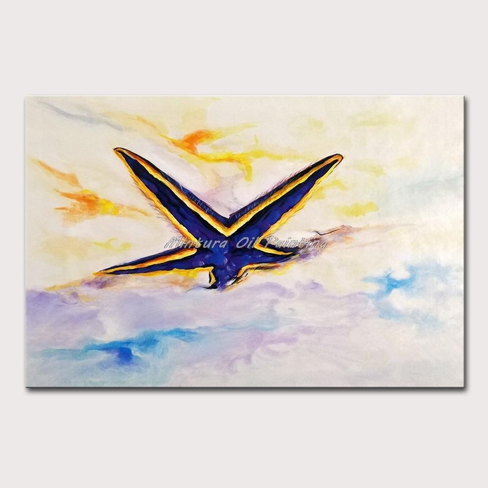 Hand Painted Starfish In The Sand Canvas Art - DrunkArtist
