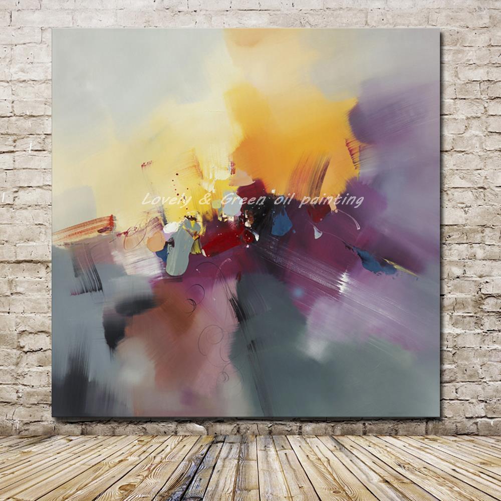 Hand Painted Dark Shades Abstract Canvas Art - DrunkArtist