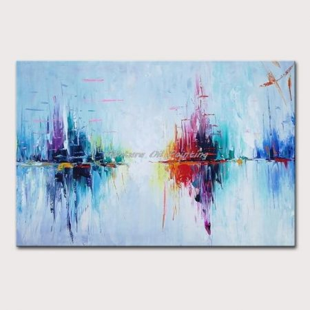 Hand Painted Pastel Colors Abstract Canvas Art - DrunkArtist