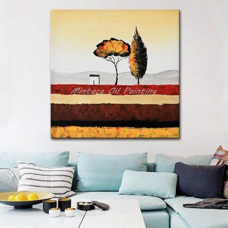 Hand Painted Rural Landscape Oil Painting - DrunkArtist