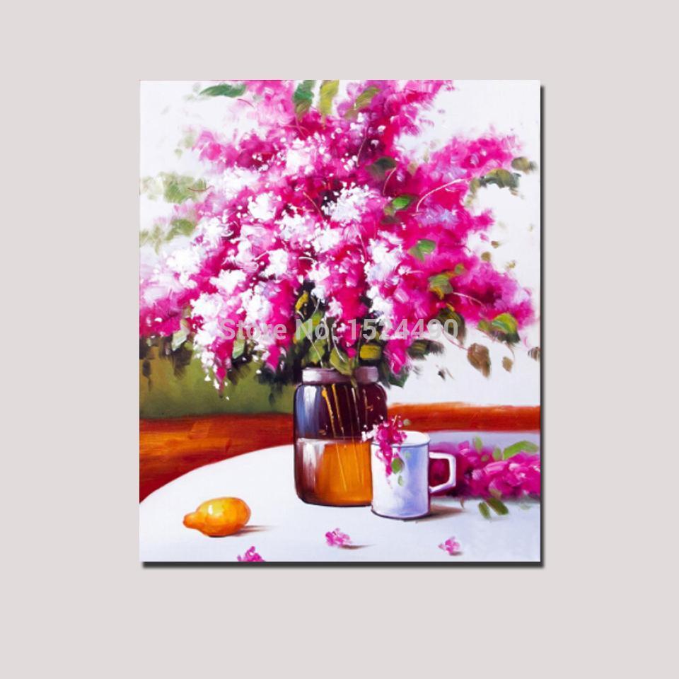 Red Big Flower Hand Made Canvas Art - DrunkArtist