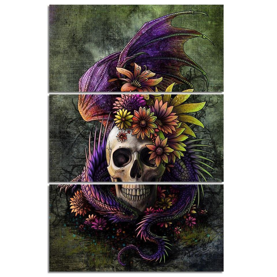 Flowery Skull - DrunkArtist