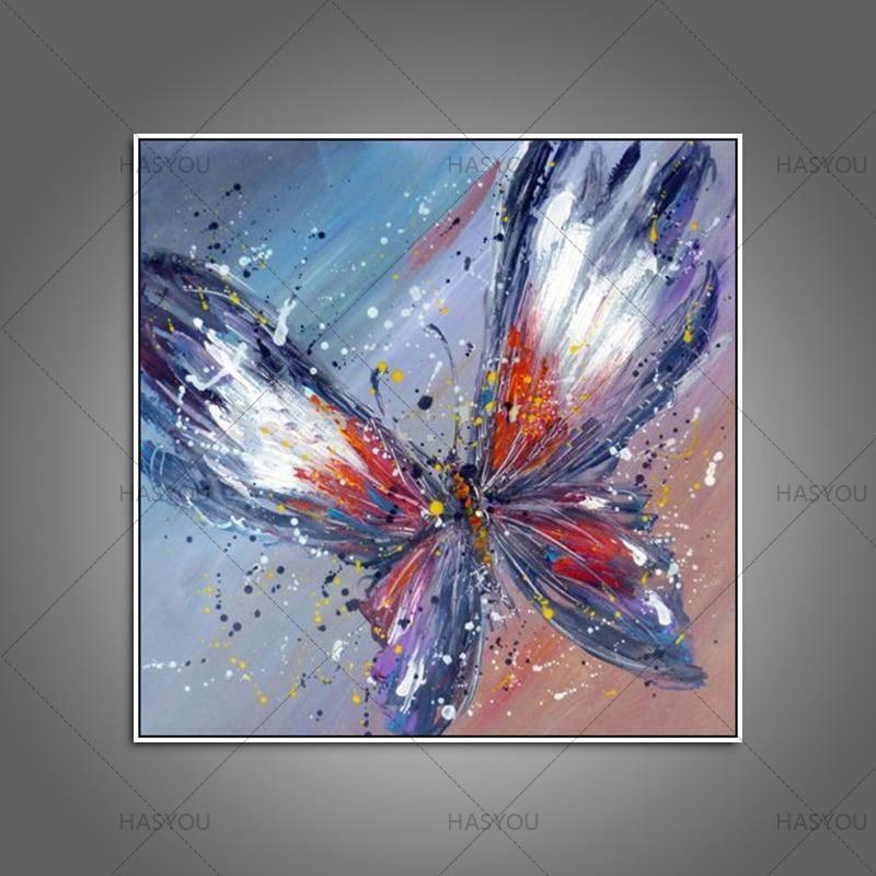 Handpainted Purple Butterfly - DrunkArtist