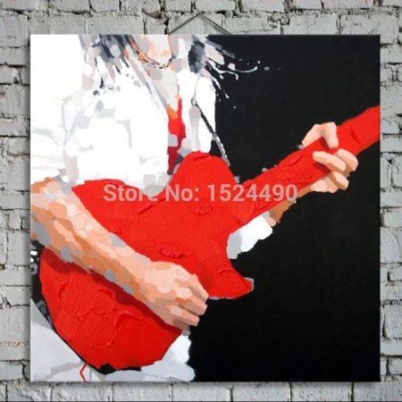 Abstract Guitar Hand Made Canvas Wall Art - DrunkArtist