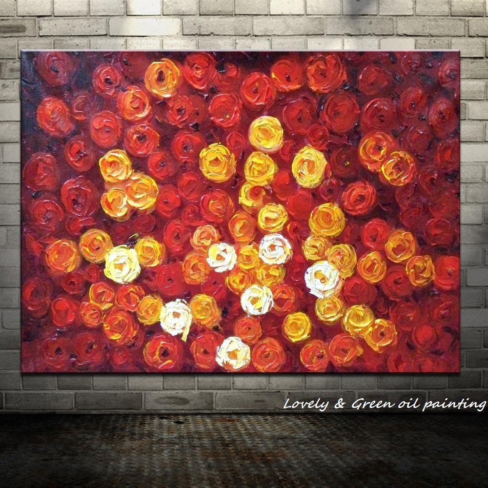 Handpainted Red Roses - DrunkArtist