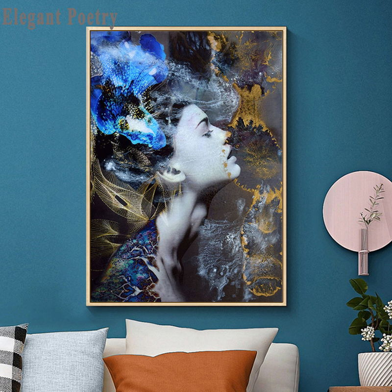 Blue Forest Abstract Woman